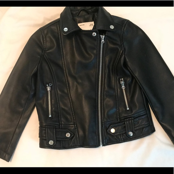 1b8ceb05 Jackets & Coats | Zara Kids Faux Leather Jacket Size 6y | Poshmark